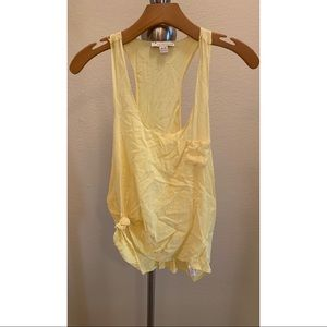 Forever 21 medium yellow faux silk tank